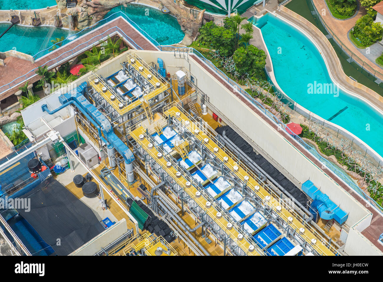 Water treatment plants stock photos water treatment - Swimming pool water treatment plant ...