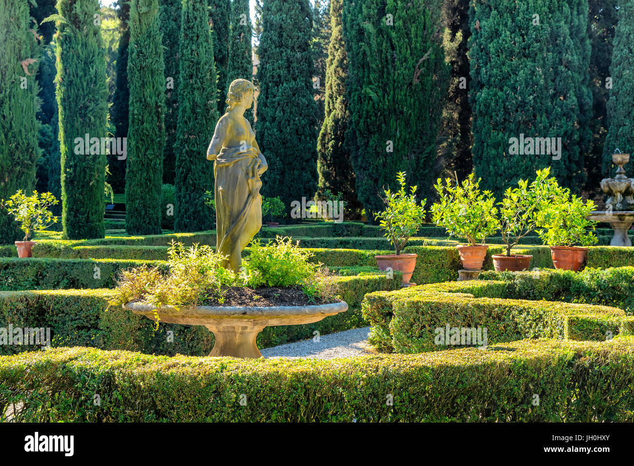 Statue in giardini giusti verona stock photo alamy