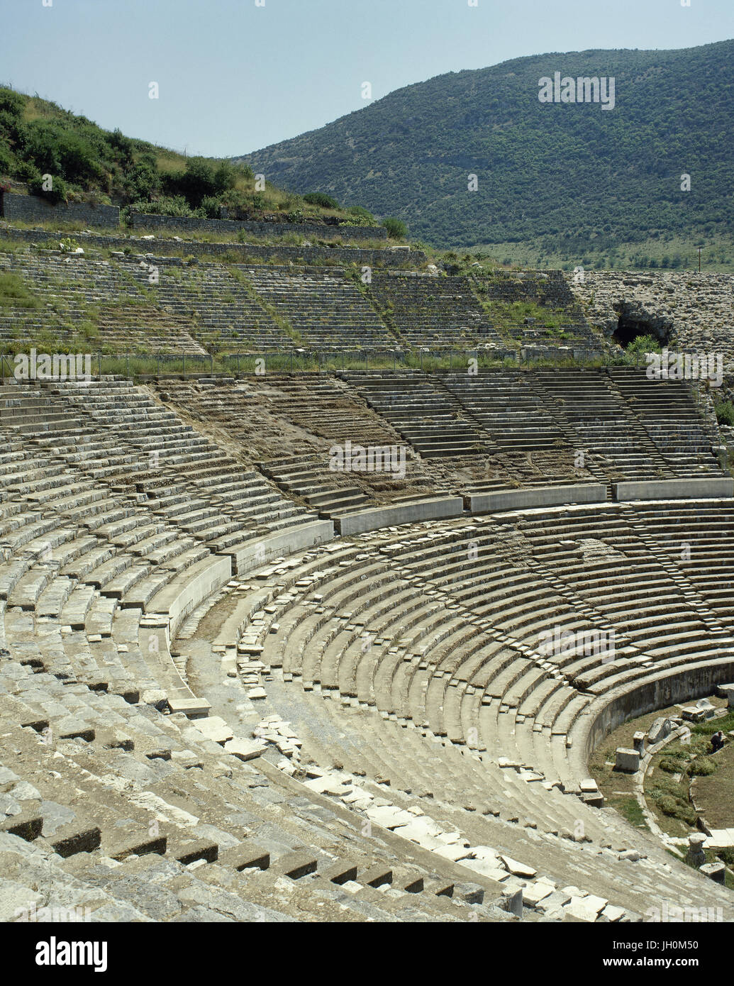 Turkey. Ephesus. Ancient Greek city on the coast of Ionia. Grand Theater. Hellenistic period, remodeled in Roman - Stock Image