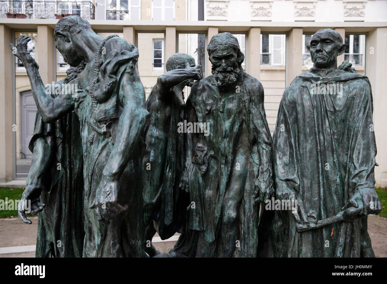 Rodin museum, Paris. Monument to the burghers of Calais. 1889.   France. - Stock Image
