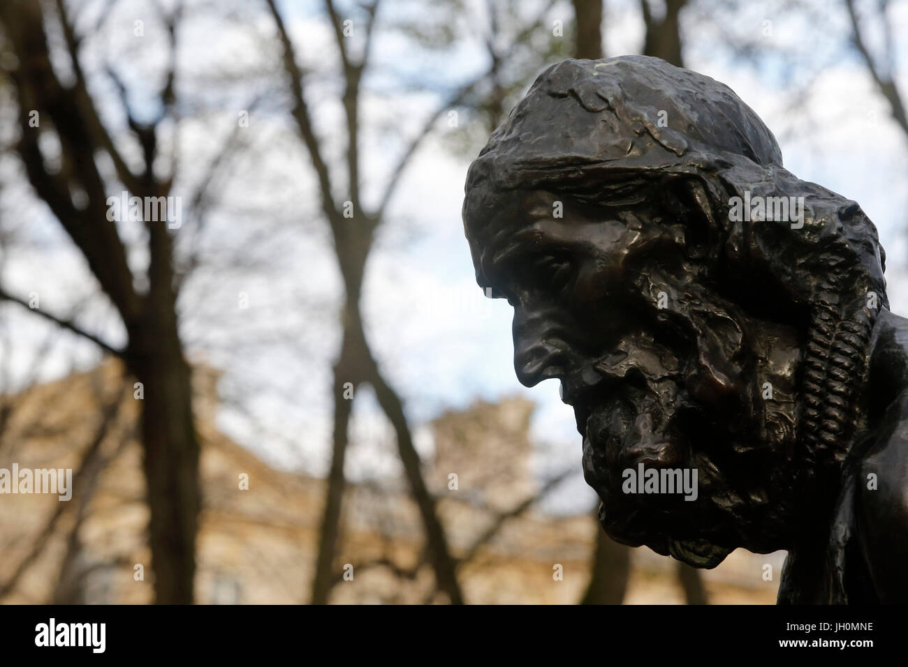 Rodin museum, Paris. Monument to the Burghers of Calais. Detail.  France. - Stock Image