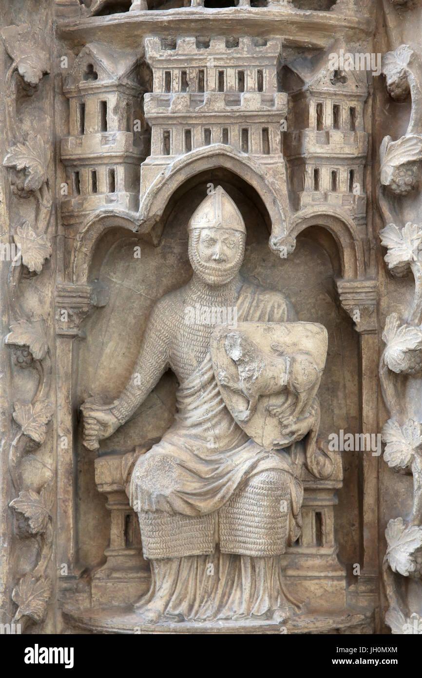 CitŽ de l'architecture et du patrimoine (Museum of architecture & heritage), Paris. Copy of the Notre-Dame - Stock Image