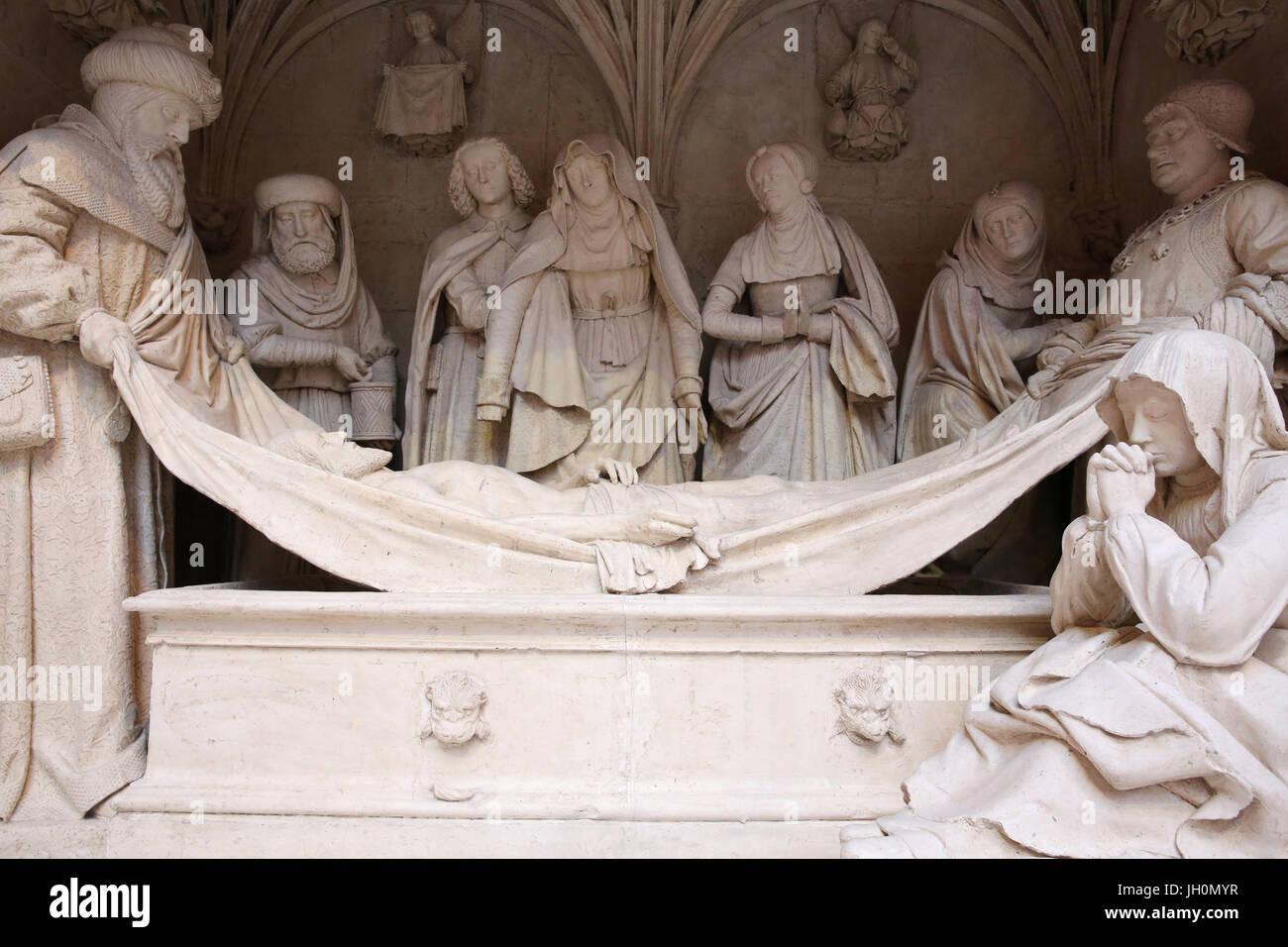 CitŽ de l'architecture et du patrimoine (Museum of architecture & heritage), Paris. Copy of the Entombment in Saint Stock Photo