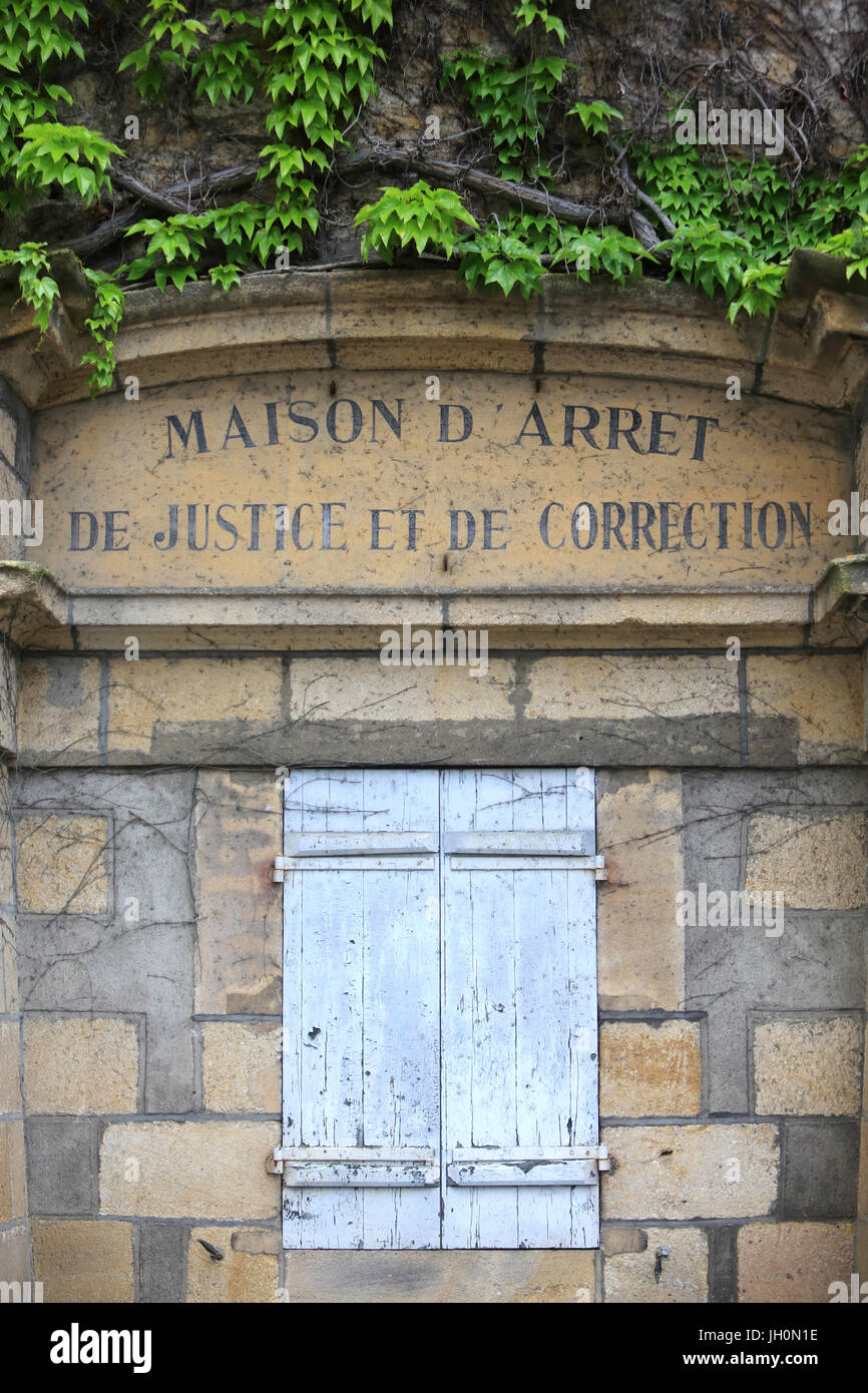 House of Justice and Correction. Moulins. France. - Stock Image