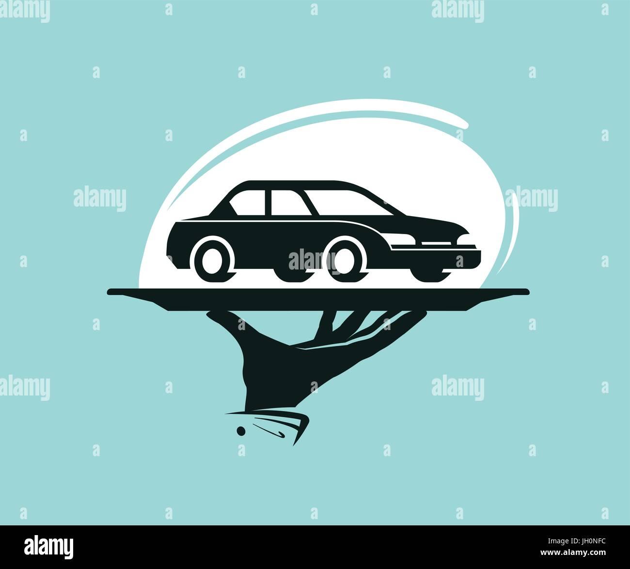 Taxi service logo. Car wash, dealership, dealer, auto parts, rental ...