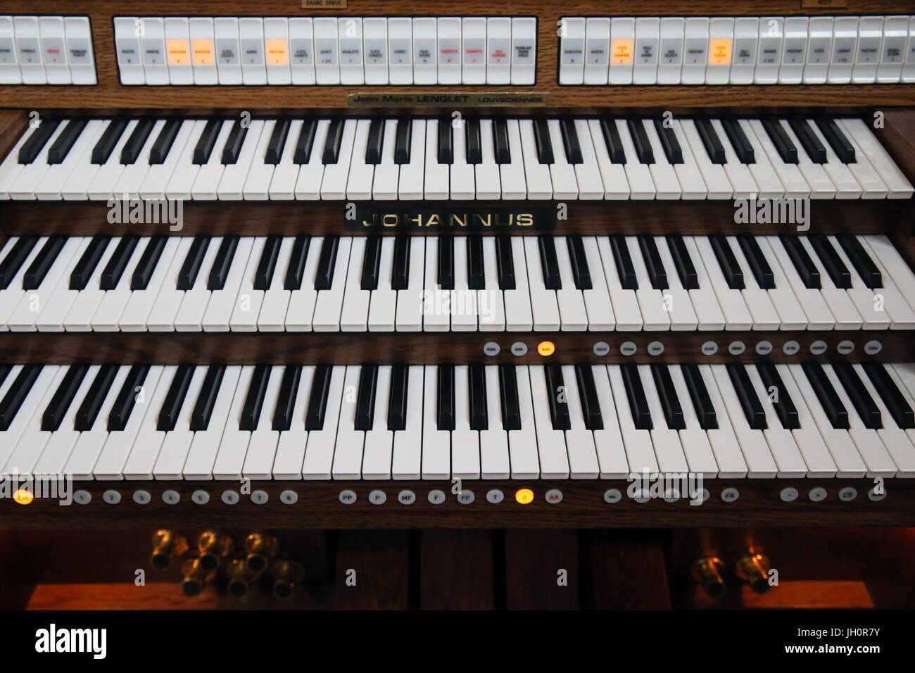 Electric organ.  France. - Stock Image