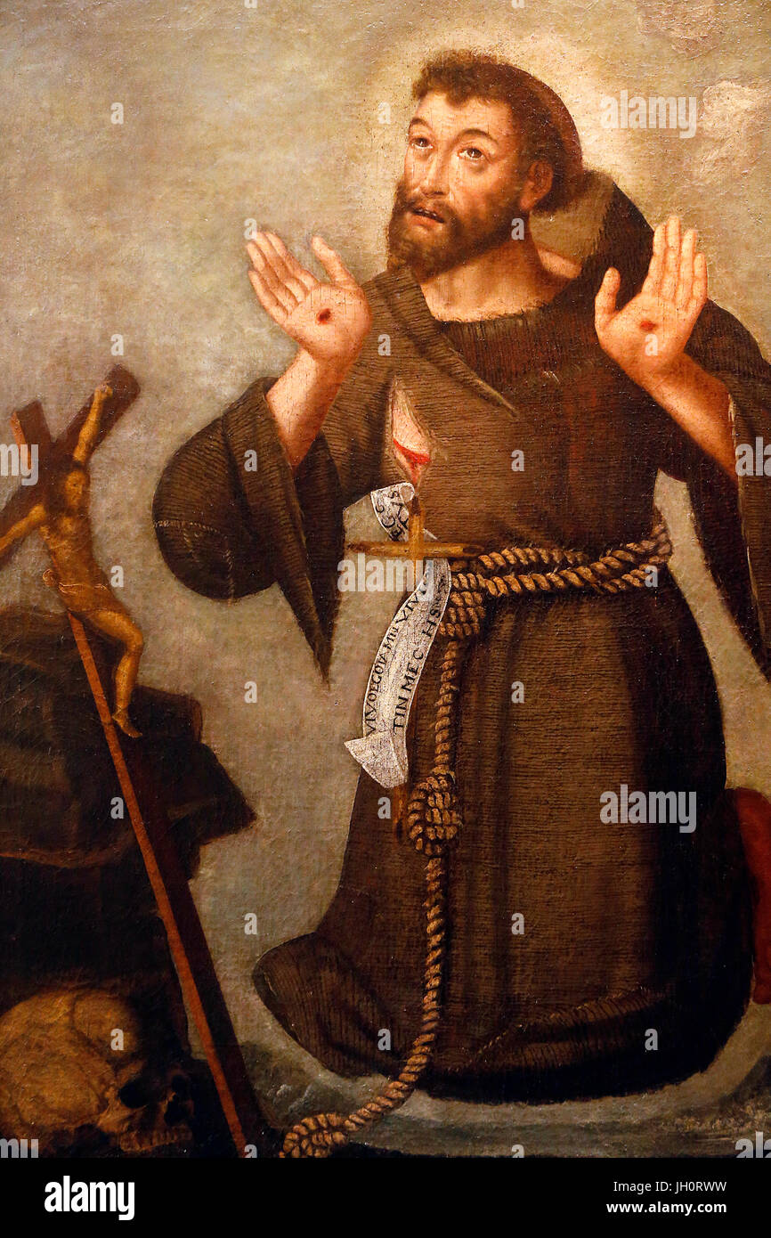 St Francis Of Assisi Painting Joseph Arakel Collection France