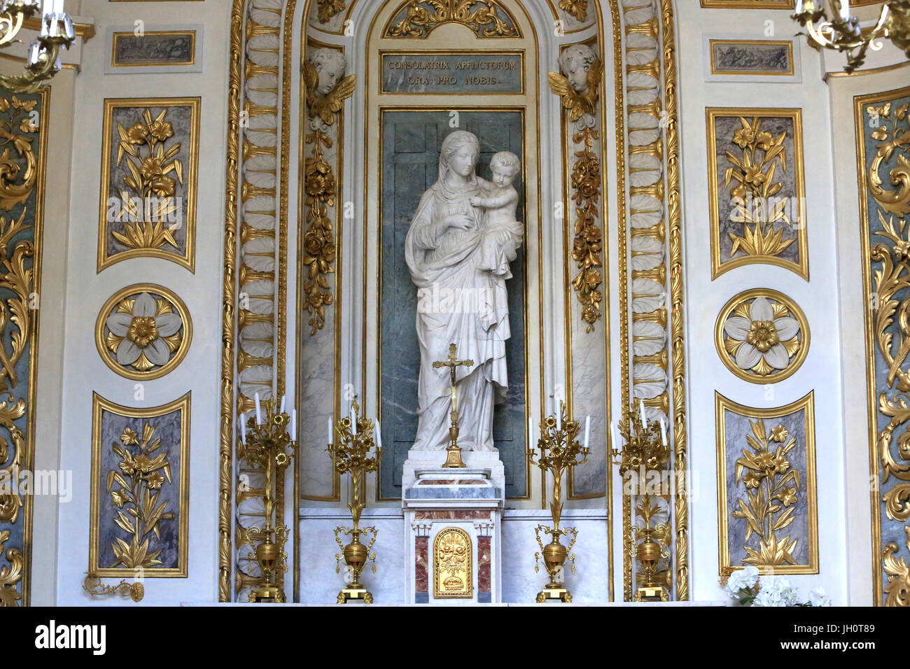 Virgin of the Carthusians, by Joseph-Hugues Fabisch, official sculptor to the Diocese of Lyon St. Virgin's chapel. - Stock Image