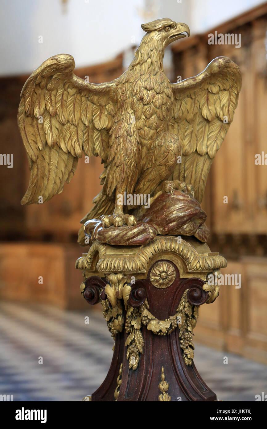 Lectern. Late eighteenth century. St. Bruno's church. Lyon.  France. - Stock Image