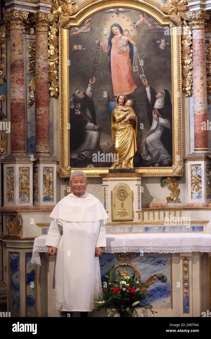 Catholic artist : father Kim en Joong.  France. - Stock Image