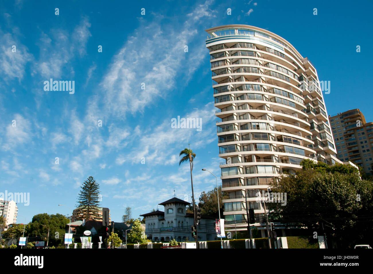 Residential Building in Vina Del Mar - Chile - Stock Image