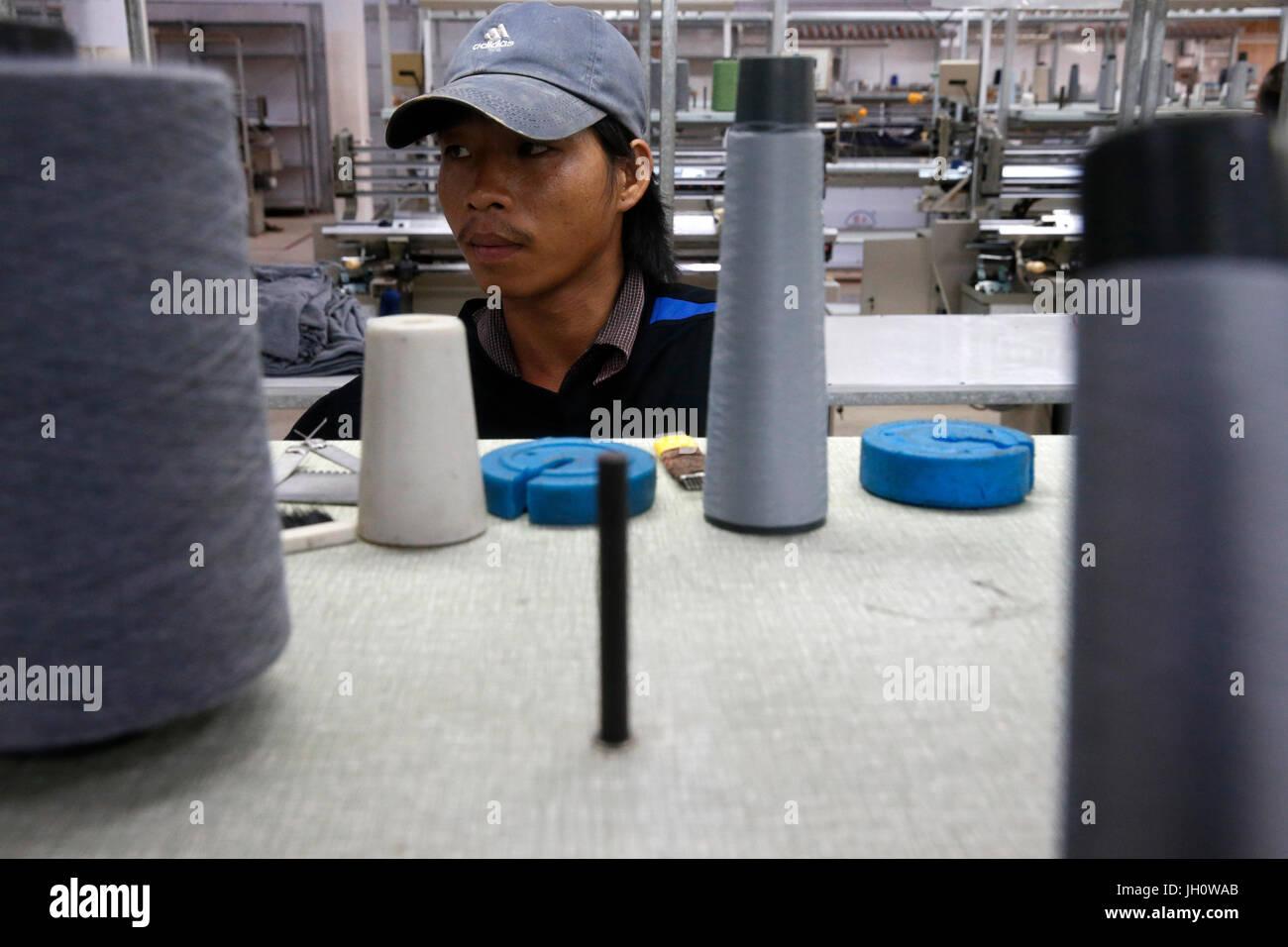 Textile factory run by the catholic church in Battambang, Cambodia - Stock Image
