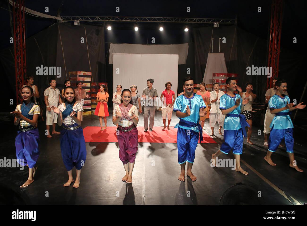 Phare Ponleu Selpak Influence show in Battambang. Cambodia. - Stock Image