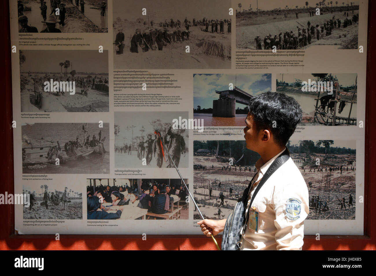 Khmer Rouge genocide memorial in Siem Reap. Cambodia. - Stock Image