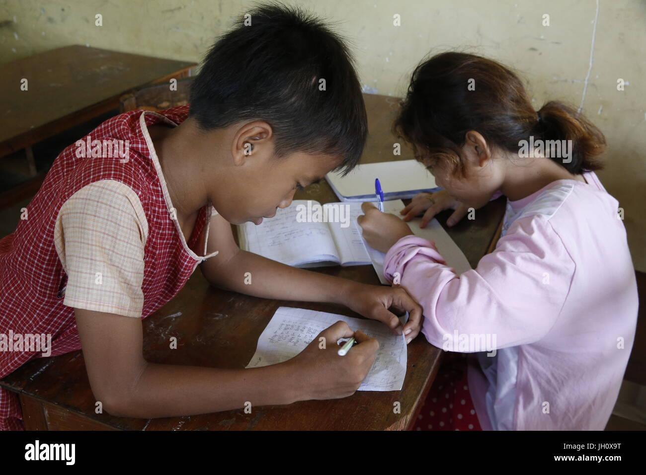 School run by KNK Cambodia (Japanese NGO). Cambodia. - Stock Image