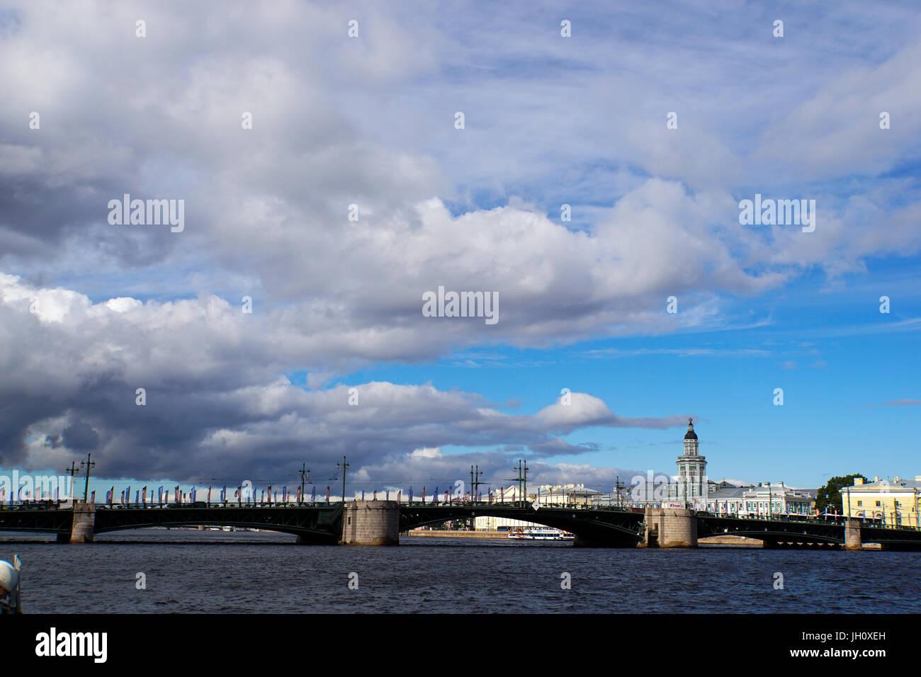 The Neva river cruise, St Petersburg, Russia - Stock Image