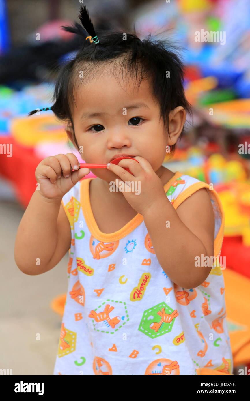 Laotian girl. Portrait. - Stock Image