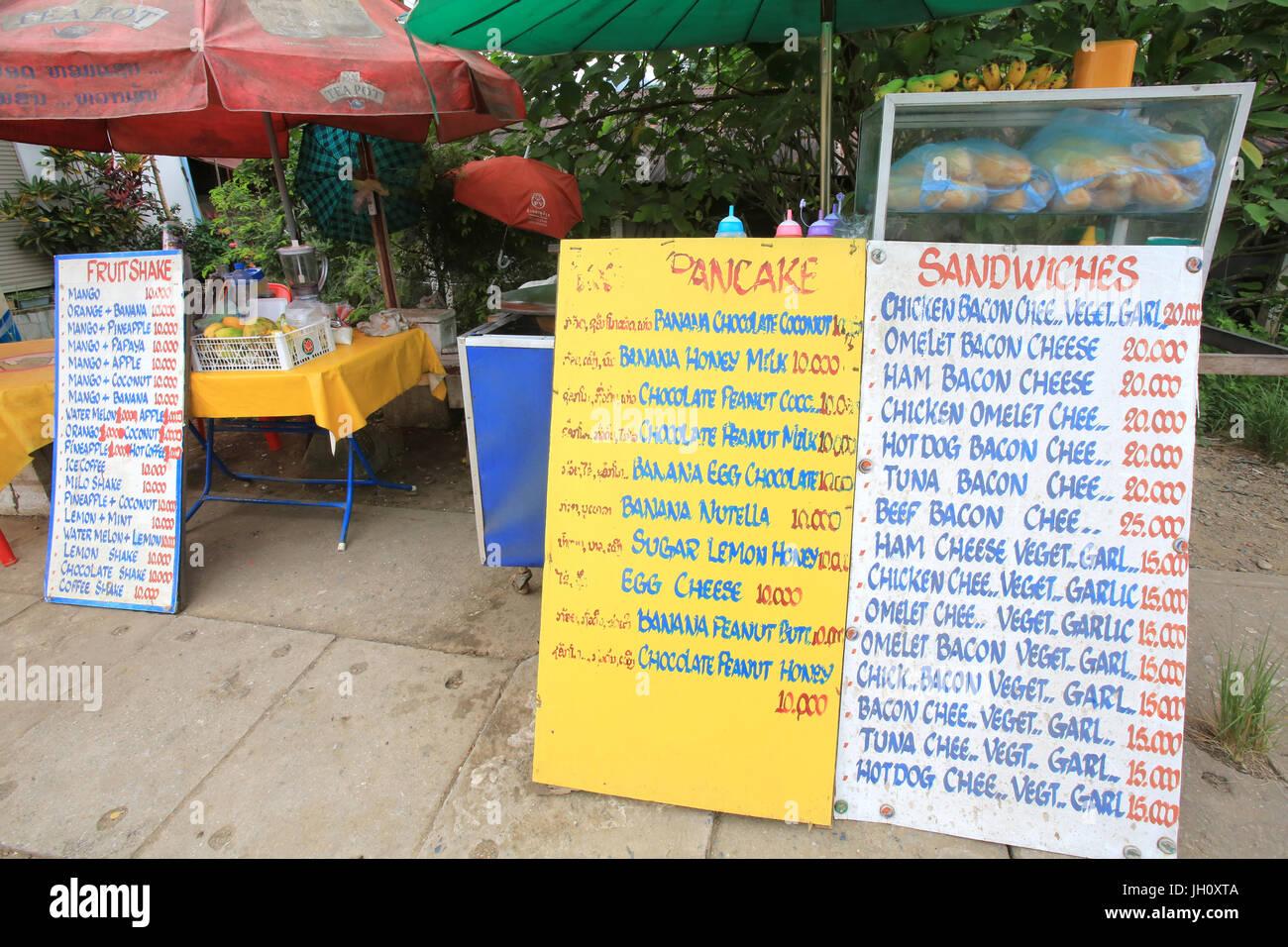 Food market. Laos. - Stock Image