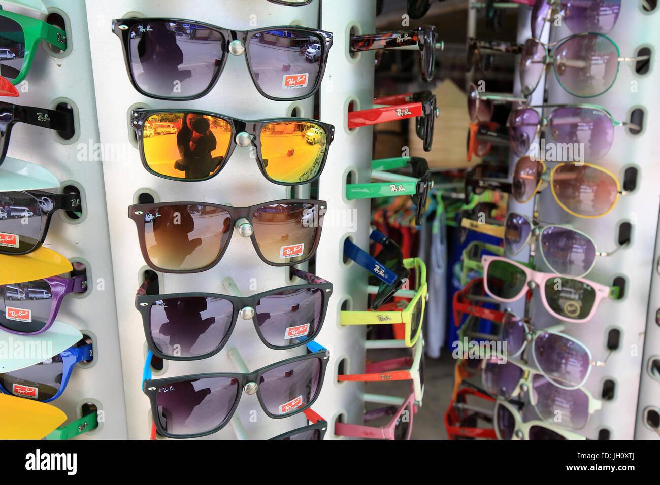 Glasses. Optician.  Laos. - Stock Image