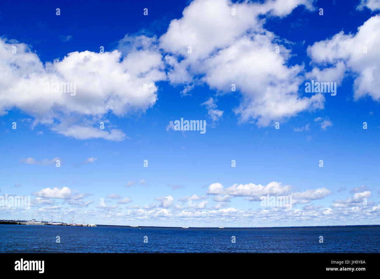 Dramatic cloudscape. Photographed in Saint Petersburg, Russia - Stock Image
