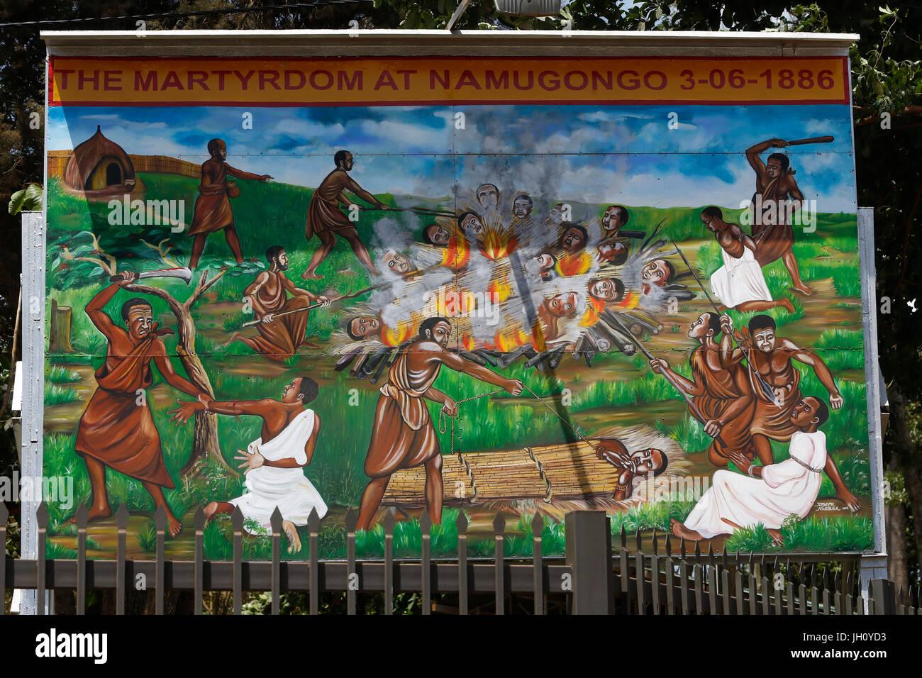 Namugongo martyrs' shrine, Kampala. Uganda. - Stock Image