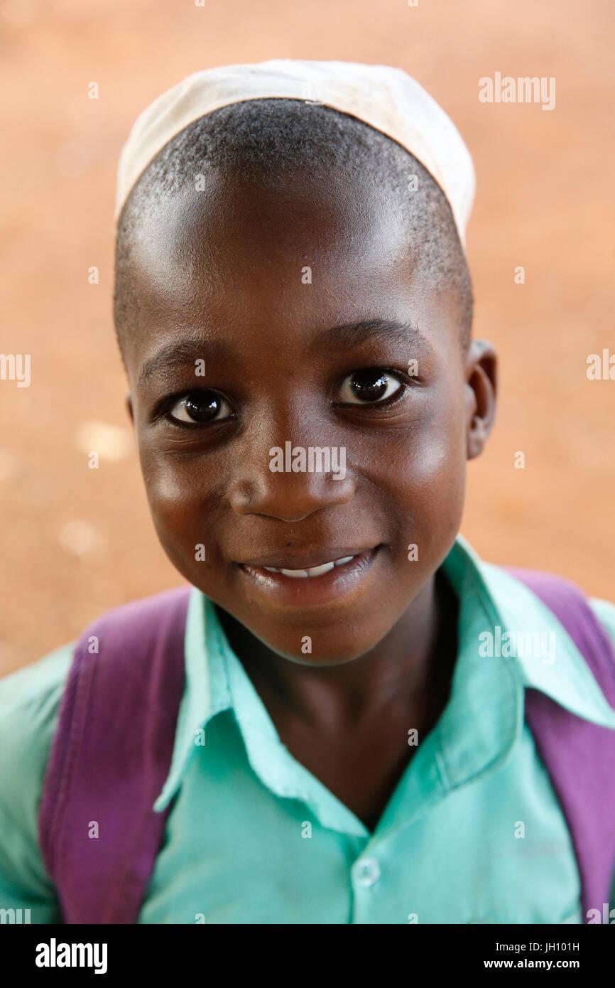 Muslim schoolboy. Uganda. - Stock Image