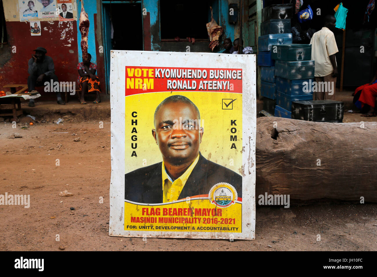 Election propaganda. Uganda. - Stock Image