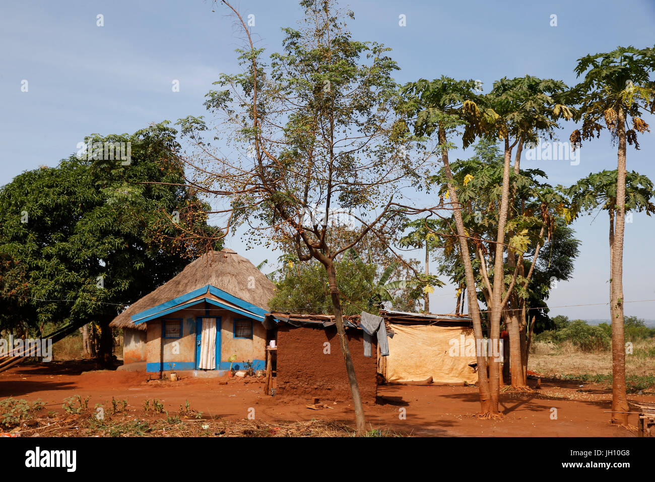 Kiryangondo refugee camp. Uganda. - Stock Image