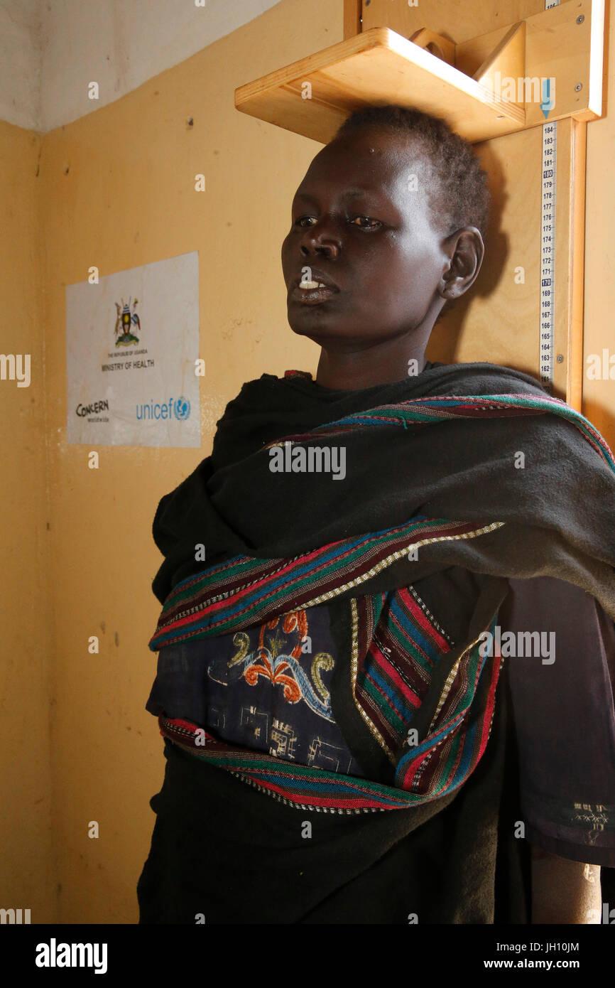 Kiryangondo refugee camp. Malnutrition prevention program run by Concern worldwide. Uganda. - Stock Image