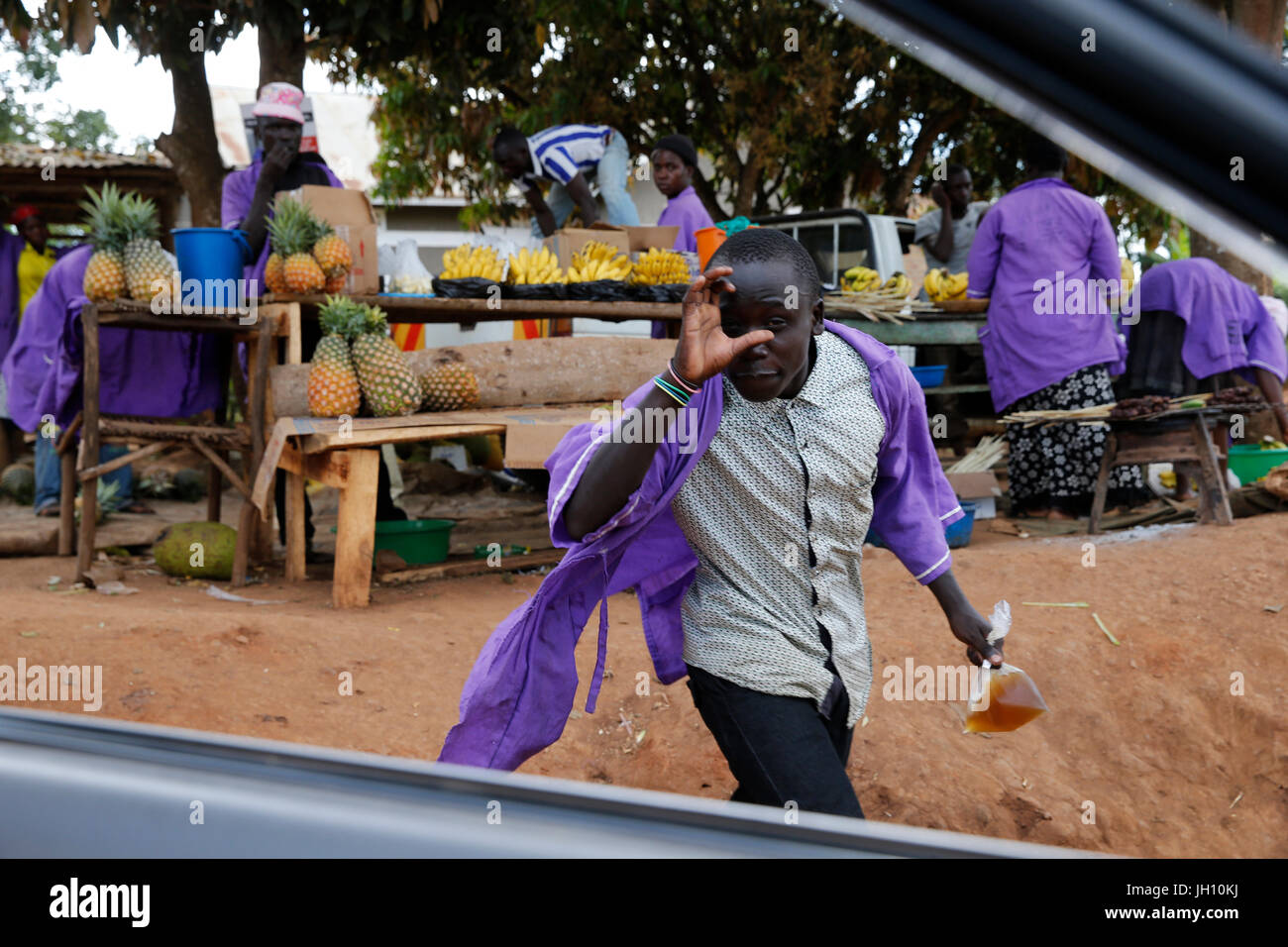 Fruit vendors. Uganda. - Stock Image