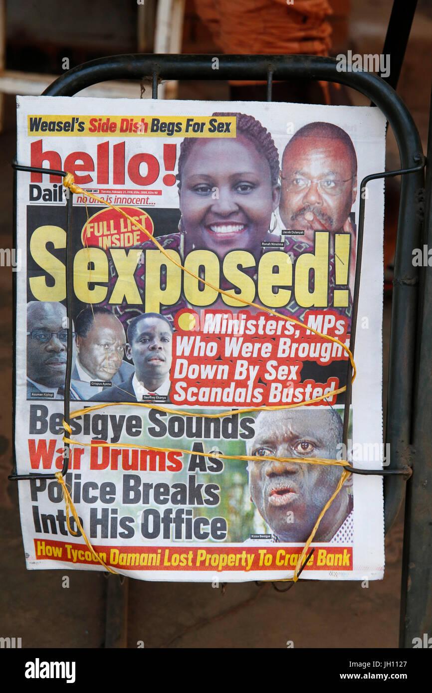 Uganda tabloid. Uganda. Stock Photo