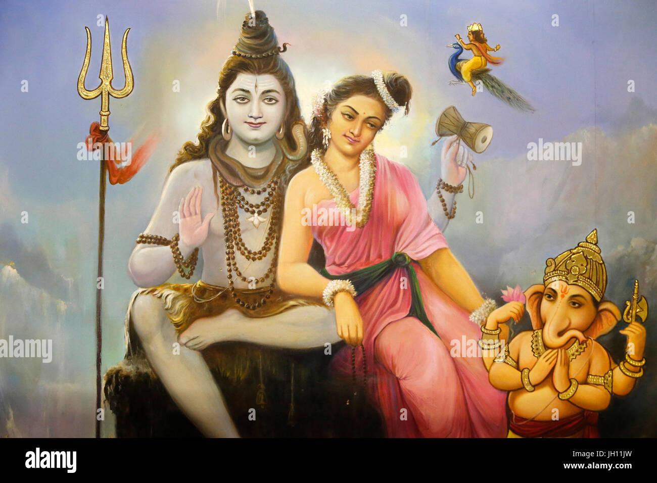 Shiva Parvati Ganesh Stock Photos Shiva Parvati Ganesh Stock