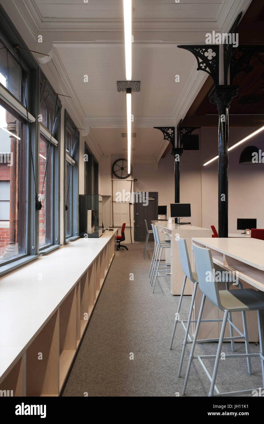 Classroom Work Space Baldwin Spencer Building Melbourne Australia Stock Photo Alamy