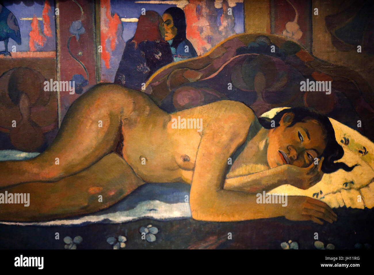 The Courtauld Gallery. Paul Gauguin. Nevermore. 1897. Oil on canvas. United kingdom. - Stock Image