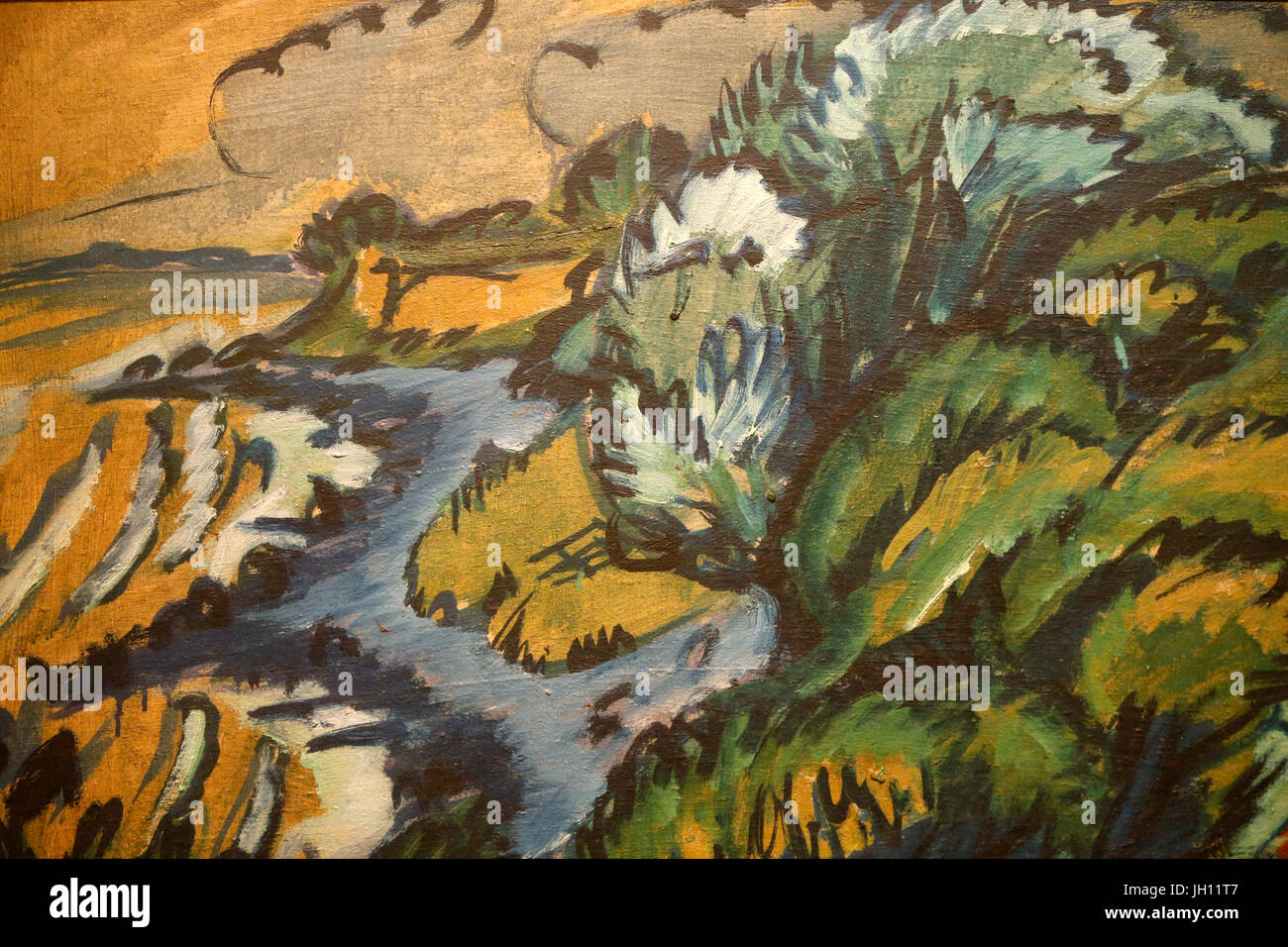 The Courtauld Gallery. Ernst Ludwig Kirchner. Coast of Fehmarn. 1912. Oil on canvas. United kingdom. - Stock Image