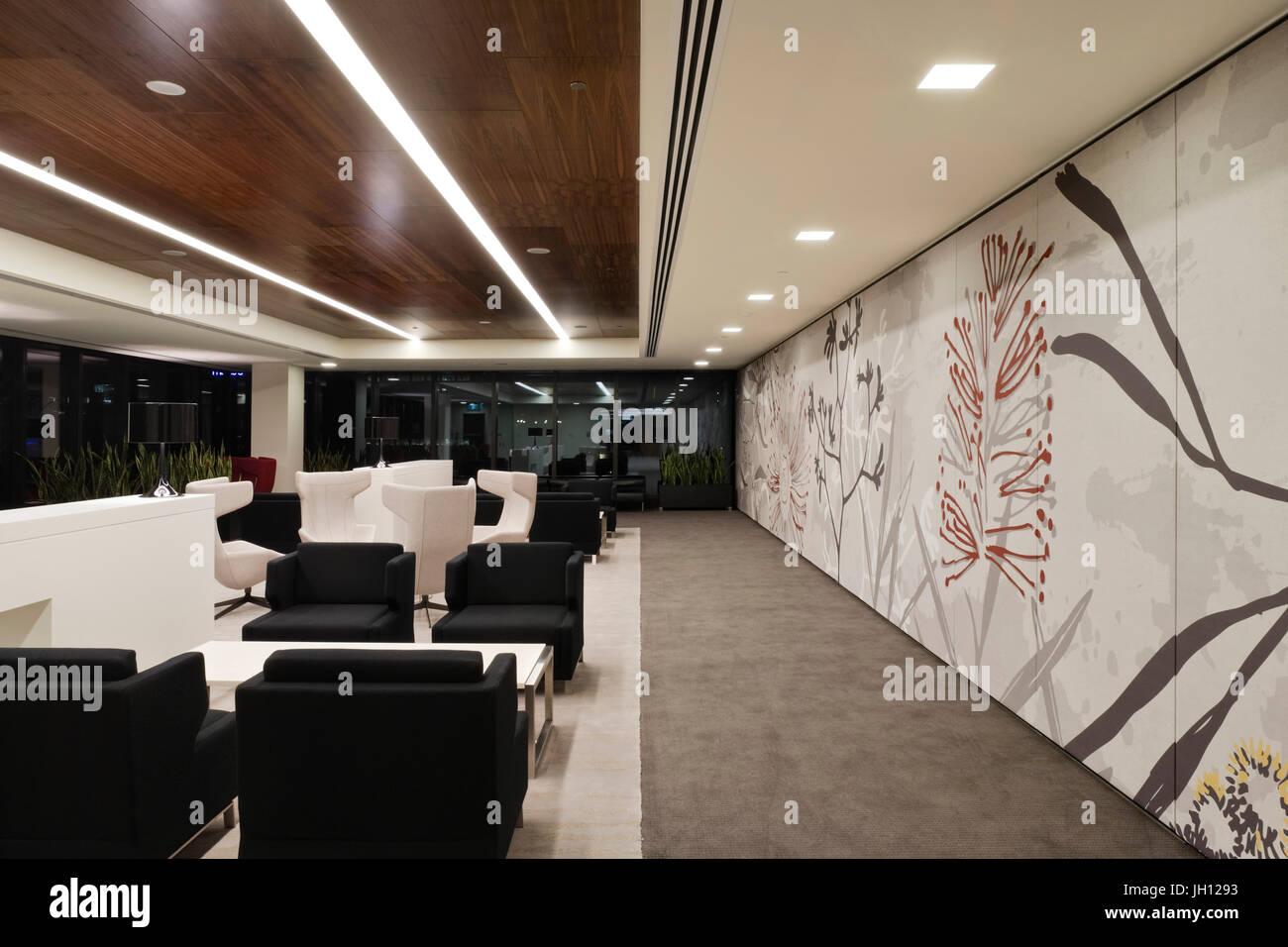 Office Lounge Area. Office Fitout, Melbourne, Australia. Architect: Geyer,  2010.