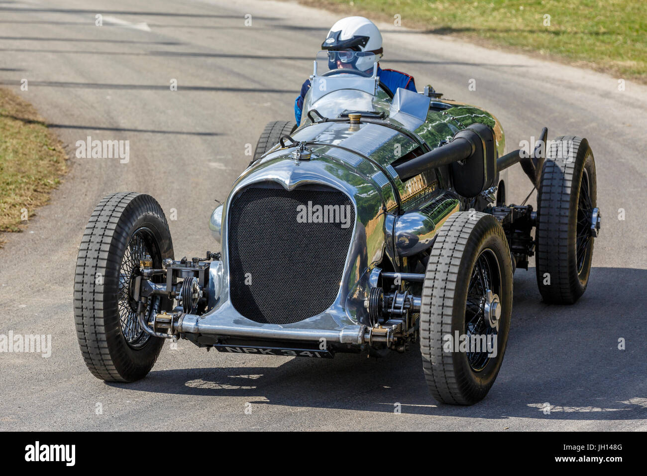 1933 Napier Railton Special with driver Allan Winn at the 2013 Goodwood Festival of Speed, Sussex, England, UK. Stock Photo
