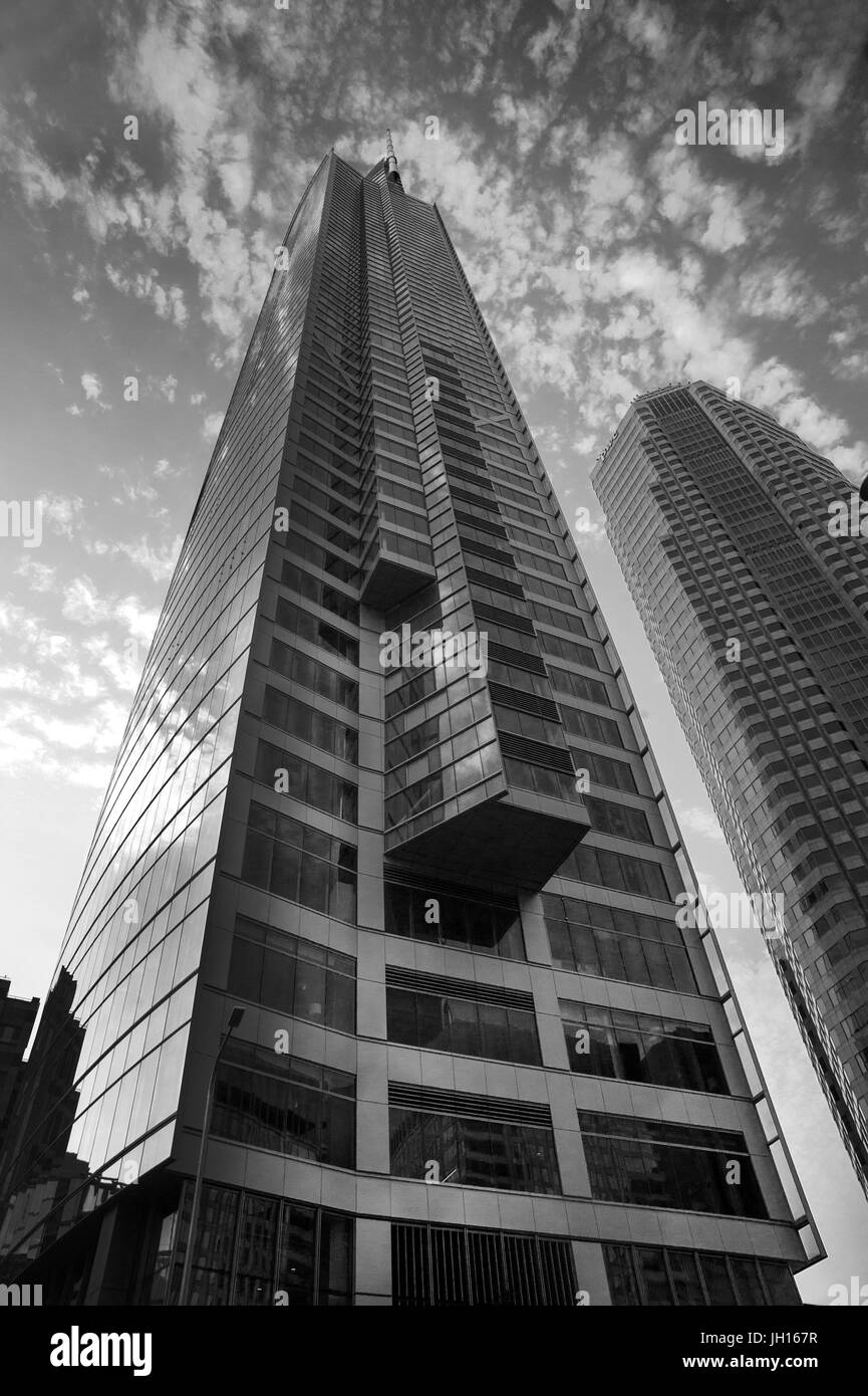 The Wislhire Grand Center is currently the tallest building in Downtown Los Angeles, CA - Stock Image