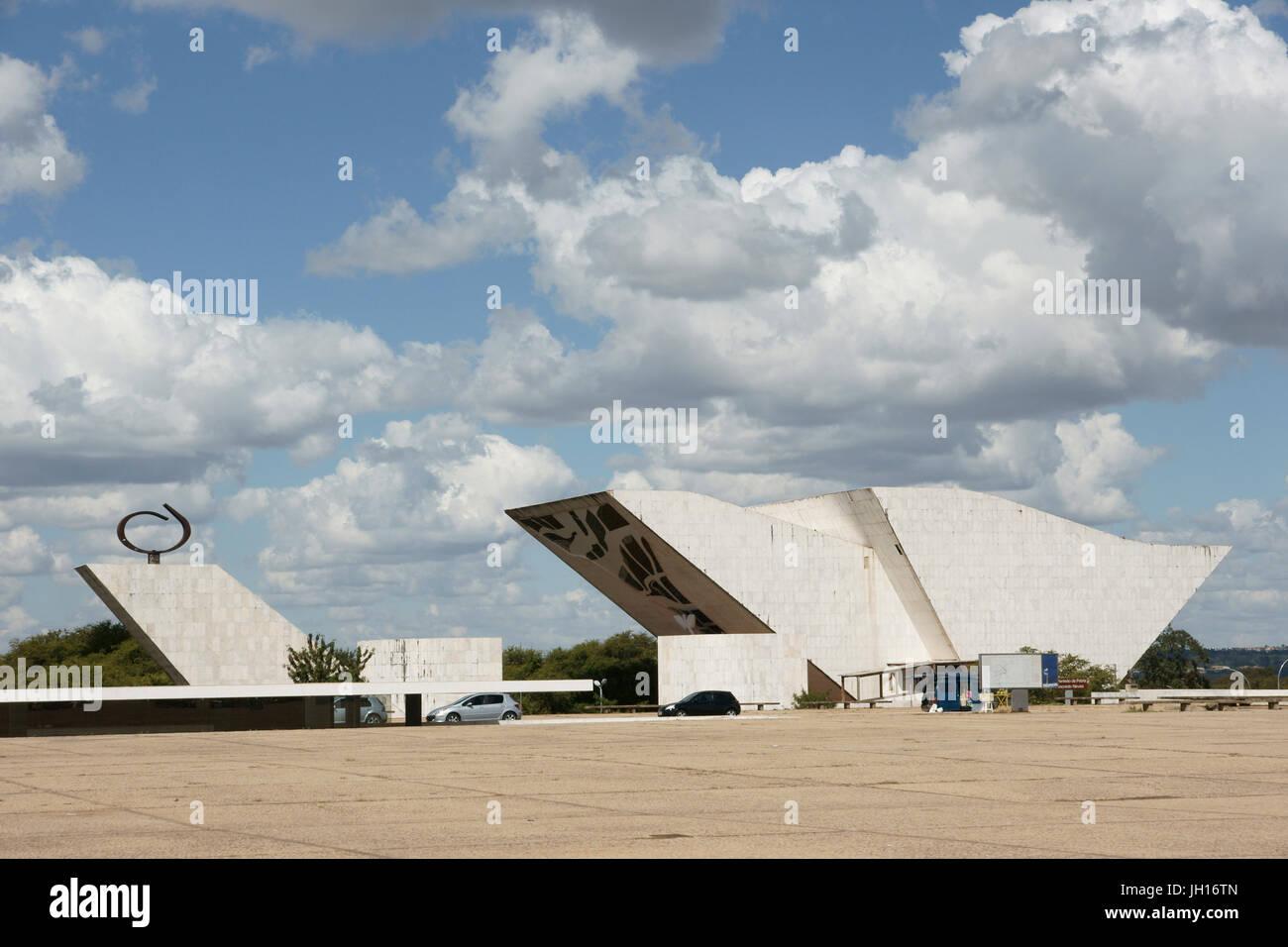 Marco Brasília, Cultural Patrimony  Humanity, Pantheon  Homeland, Tancredo Neves, Square  Three Powers, Distrito - Stock Image