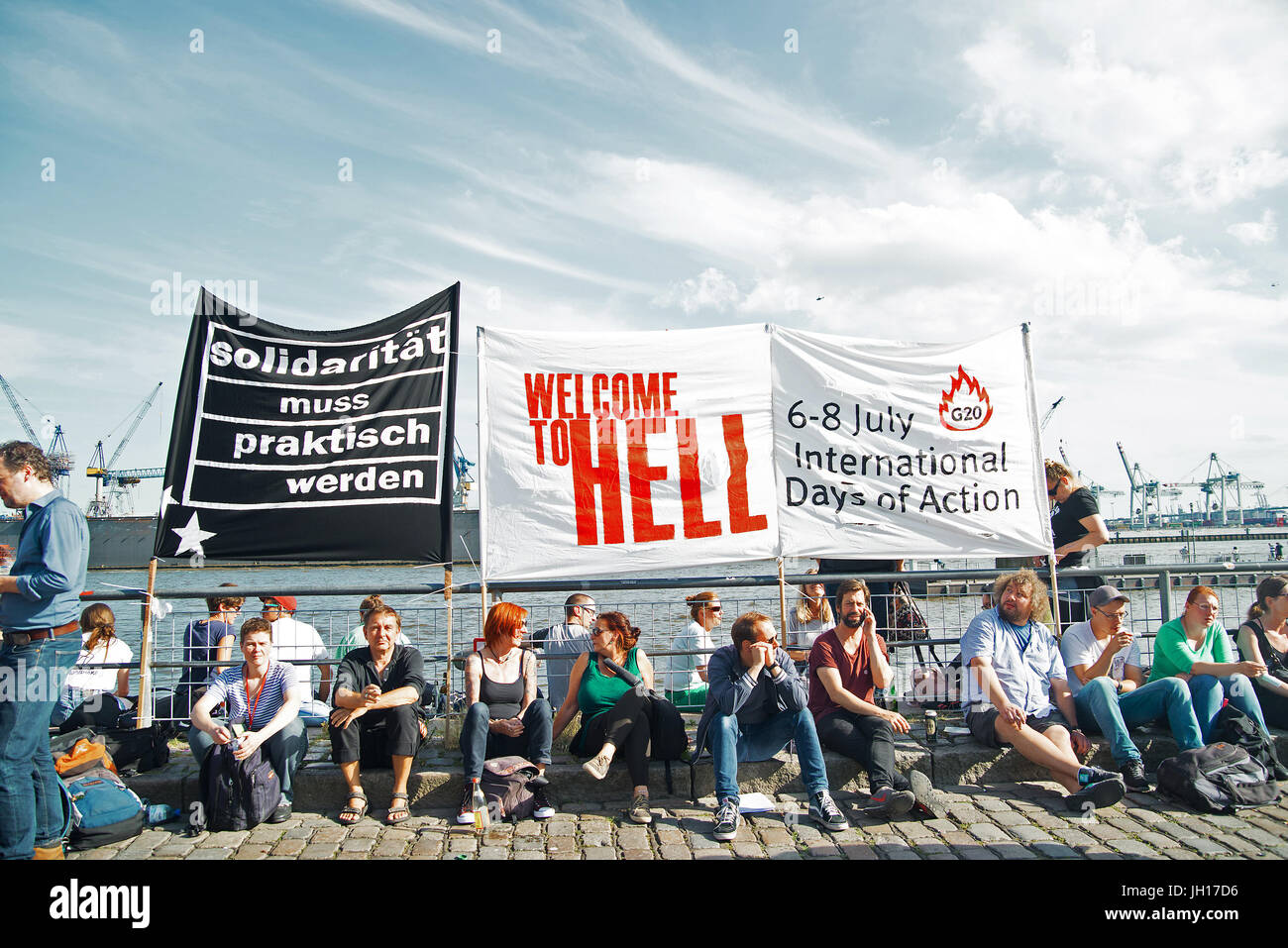 G20 Kundgebung - Stock Image