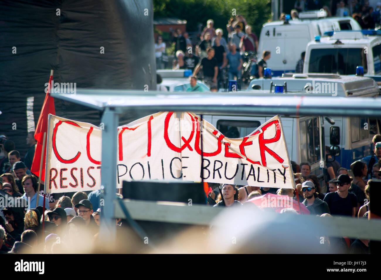 Black block, G20 Hamburg - Stock Image