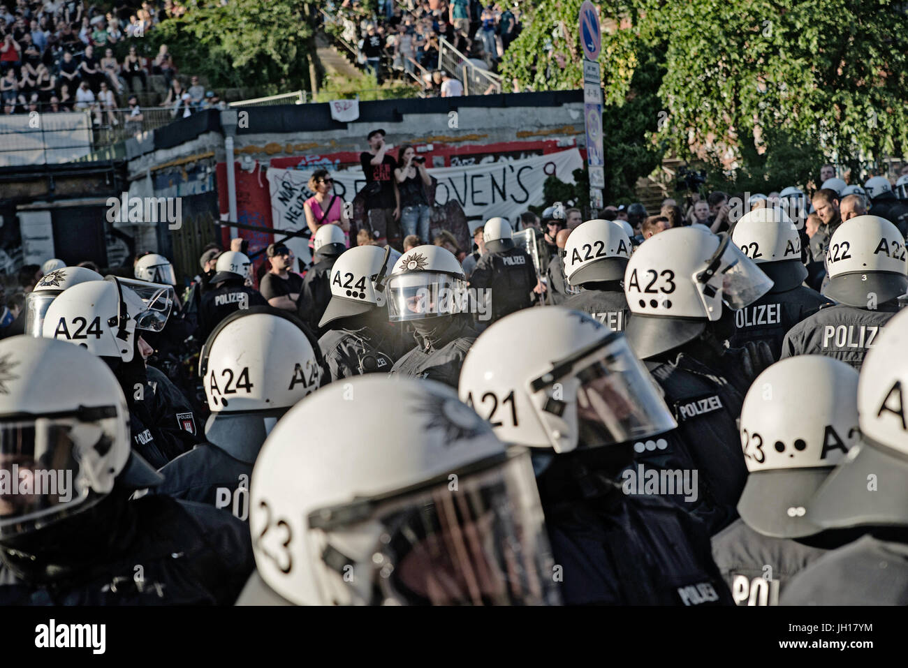 Police during the G20 summit - Stock Image