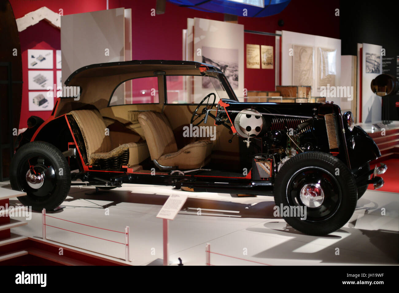 A cut-away of a plywood and steel body with steel chassis F7 model ...