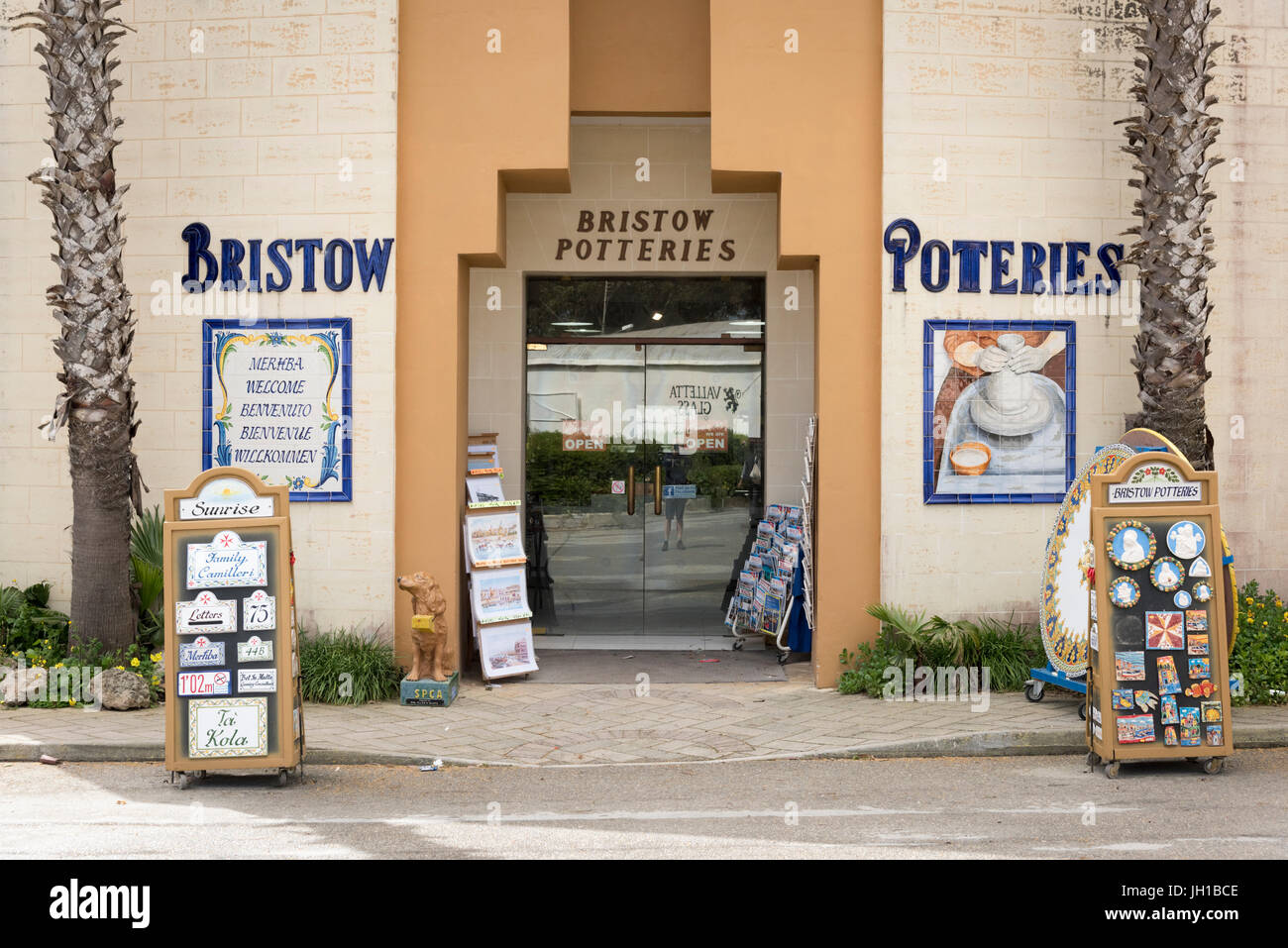 The Bristow Potteries factory and shop at Ta' Qali Crafts Centre and artisan village Malta - Stock Image