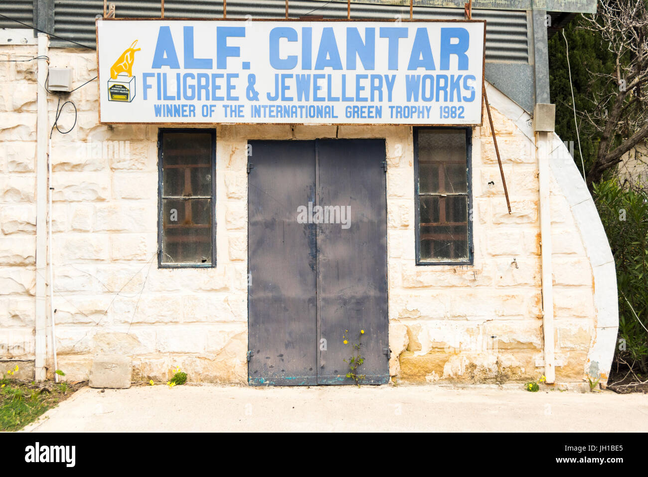 The Alf Ciantar craft shops at the artisan village and Ta' Qali Crafts Centre and artisan village Malta in old - Stock Image