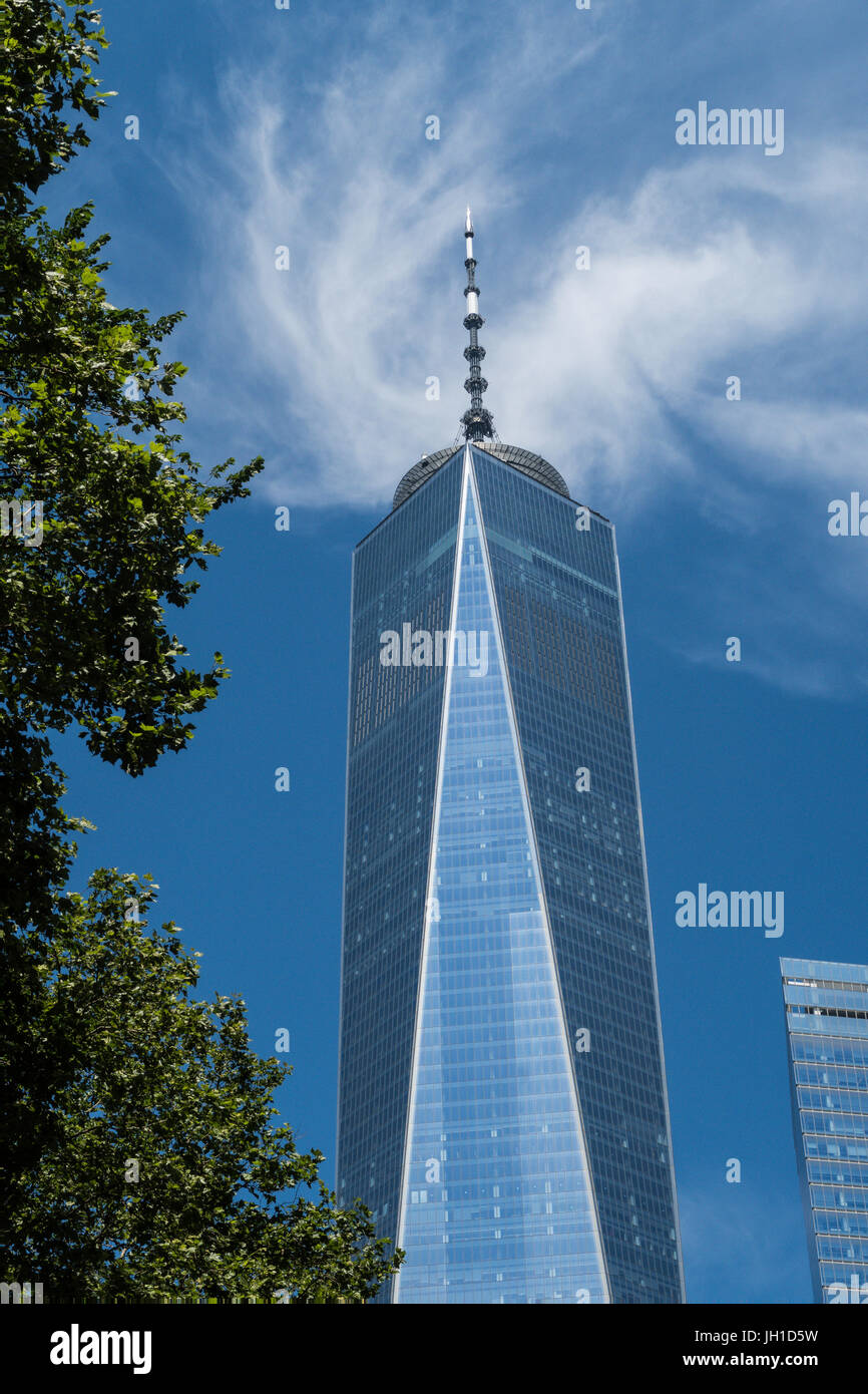 One World Trade Center in Lower Manhattan, NYC, USA - Stock Image
