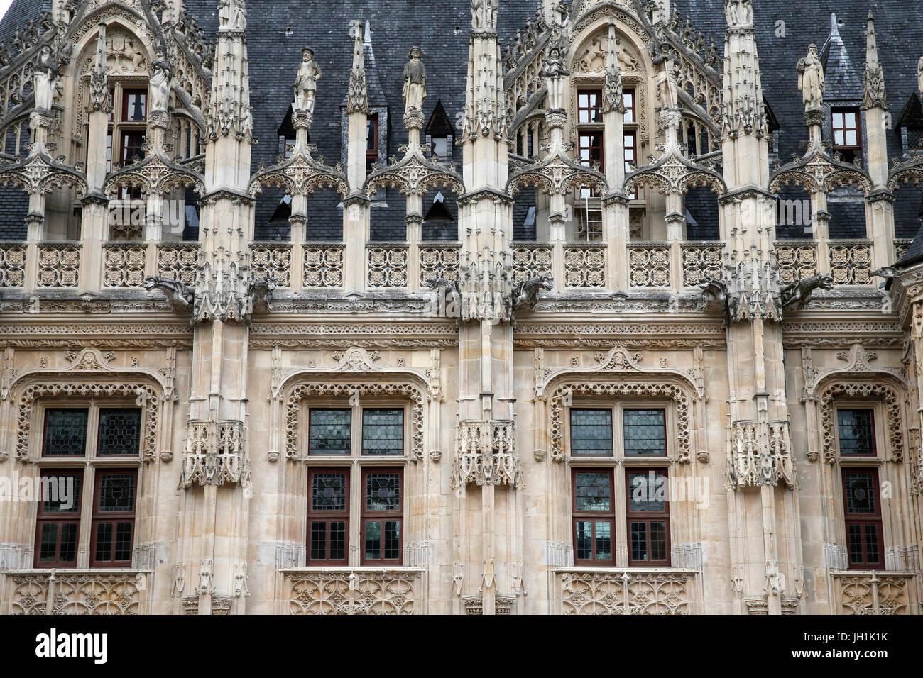 Palais de Justice, Rouen. France. - Stock Image
