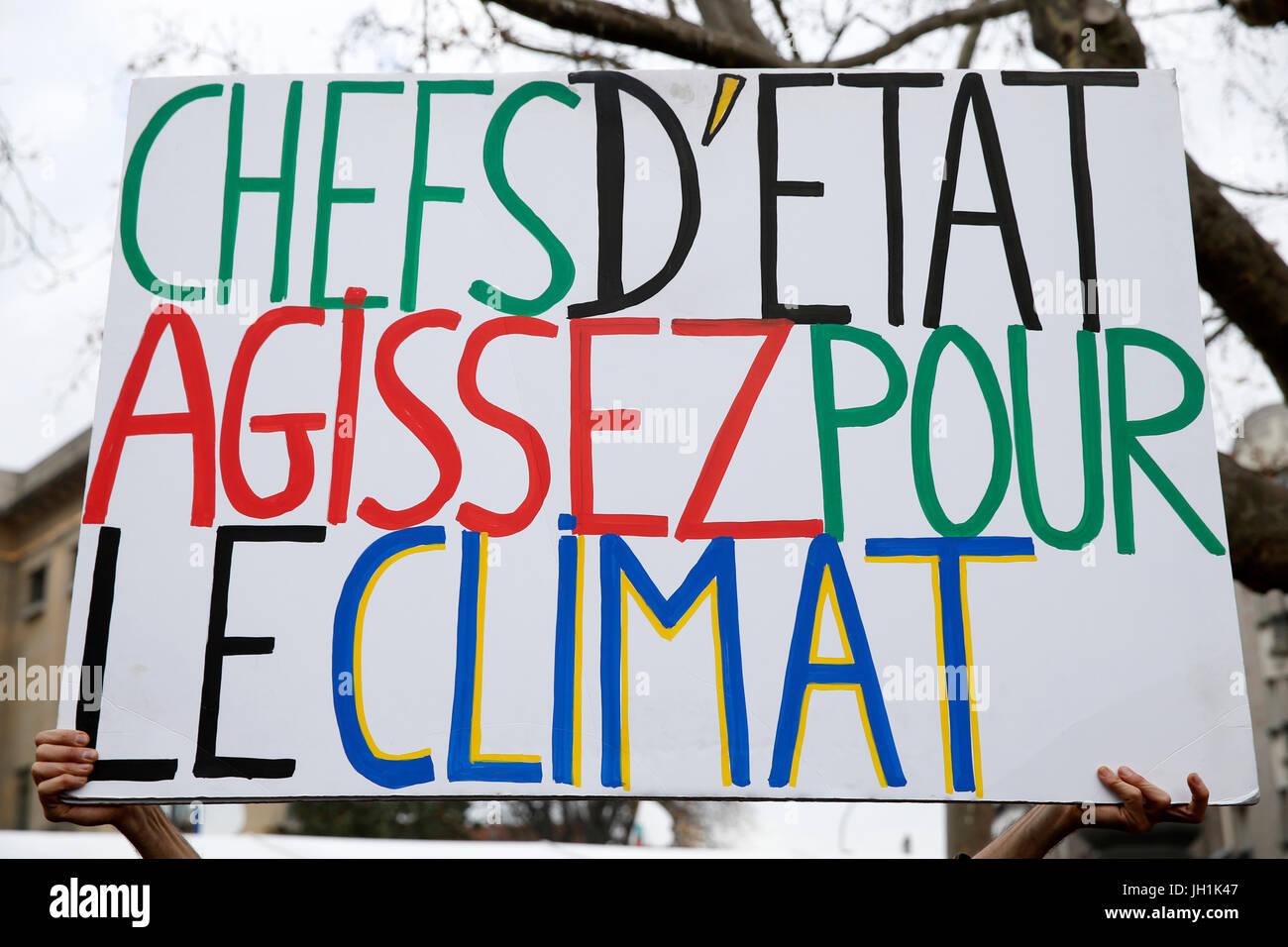 Peoples' Climate Summit - Sommet citoyen pour le climat. France. - Stock Image