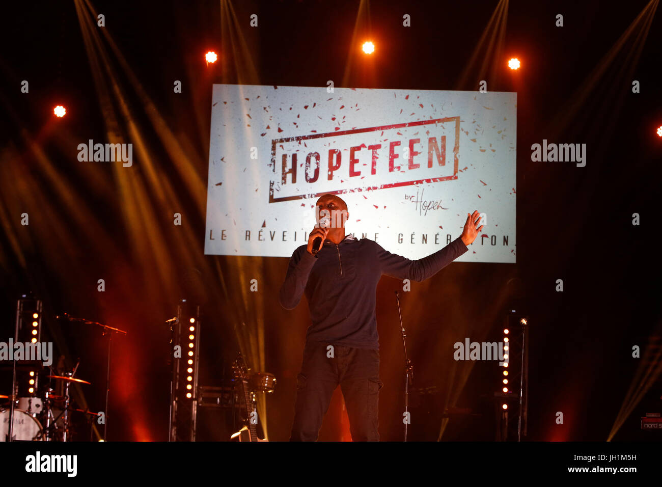 Hopeteen festival, Issy-les-Moulineaux, France. Stock Photo