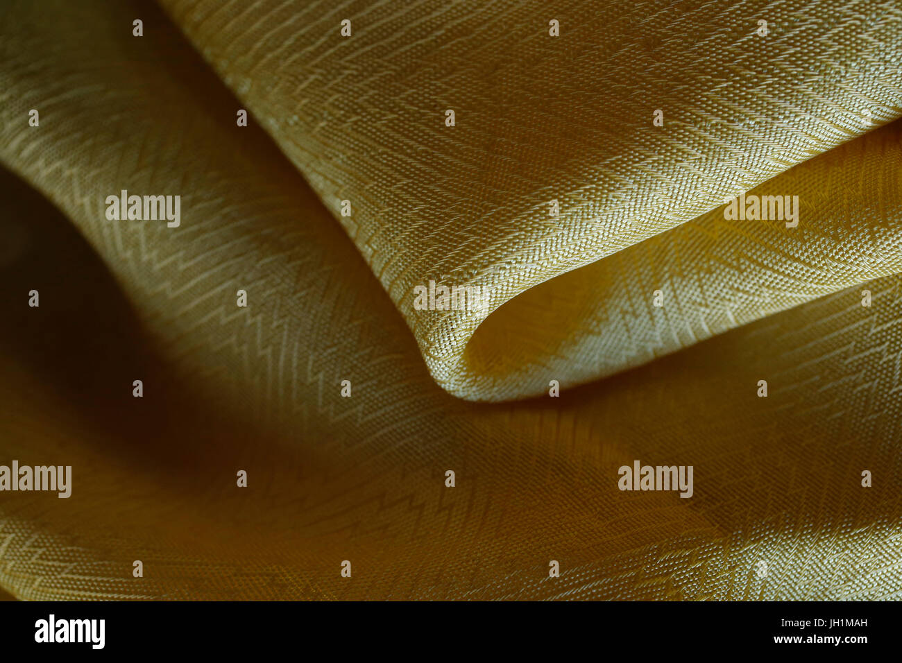 Yellow fabric. France. - Stock Image